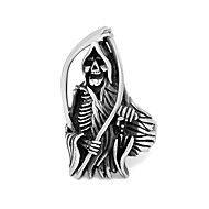 Men Ring Titanium Steel Retro Elegant Finger Ring Sons of Anarchy Trendy Metal Party Casual Vintage Personality Rings for Men – NOK kr. 114
