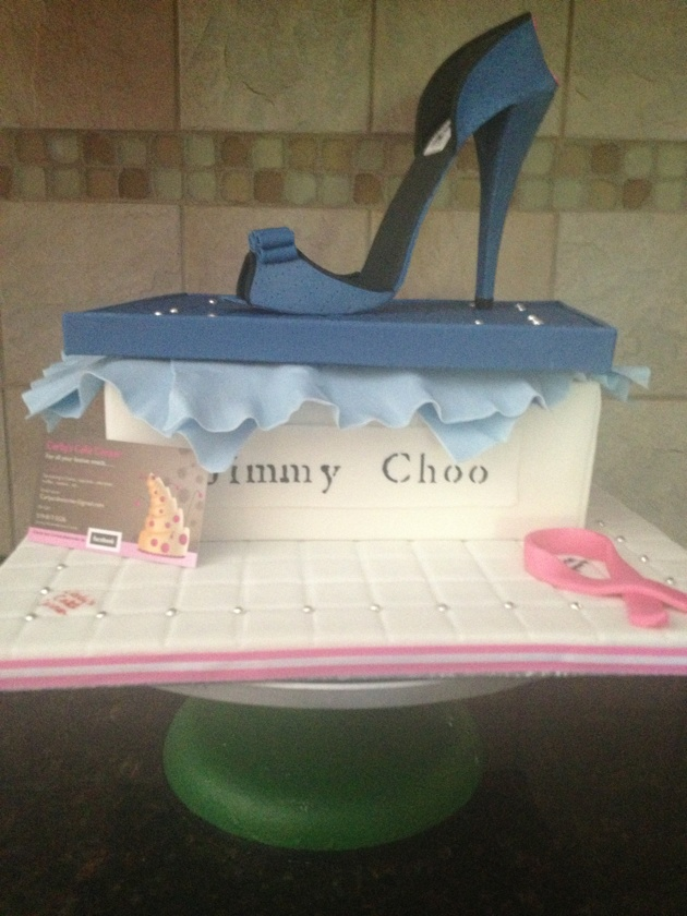 Jimmy Choo cake |Pinned from PinTo for iPad|