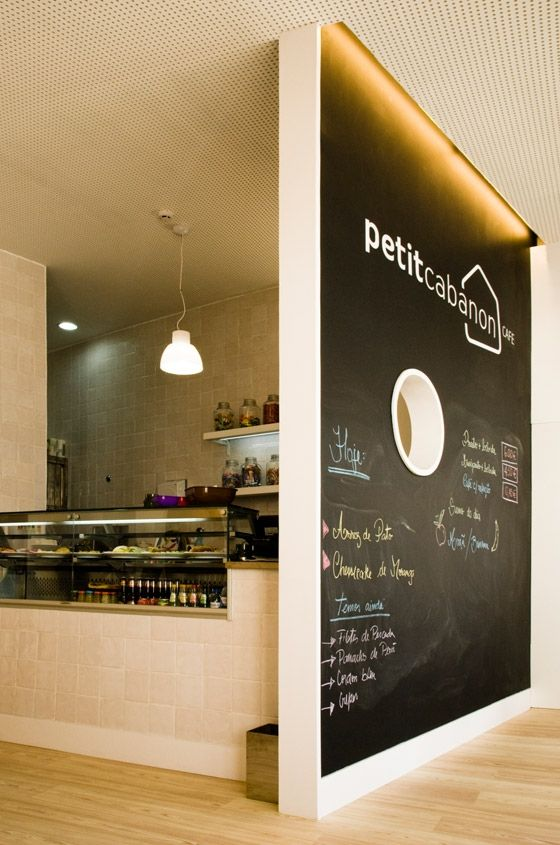 blackboard wall | café | cabanon | lisbon, portugal | by ternullomelo architects