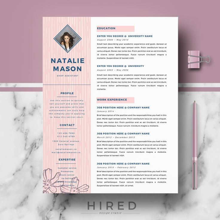 Word 2013 Resume Template 141 Best Resume Templates For Ms Word Images On Pinterest  Cover