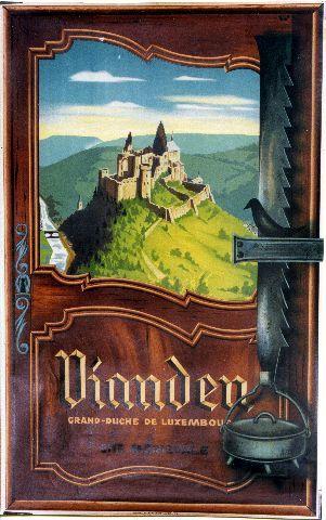 Vianden cité médiévale - circa 1950 vintage poster