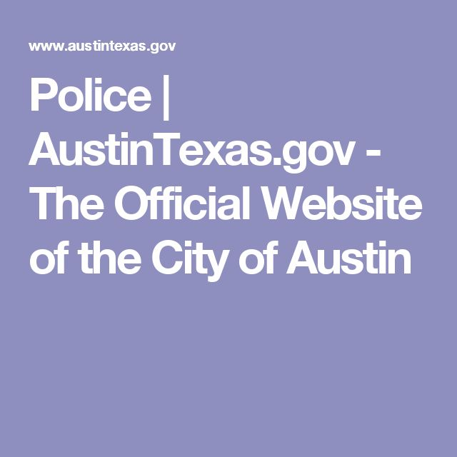 Police | AustinTexas.gov - The Official Website of the City of Austin