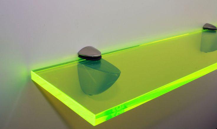 Funky Shelf- Neon Green Perspex / Acrylic 10mm in Home, Furniture & DIY, Children's Home & Furniture, Furniture | eBay