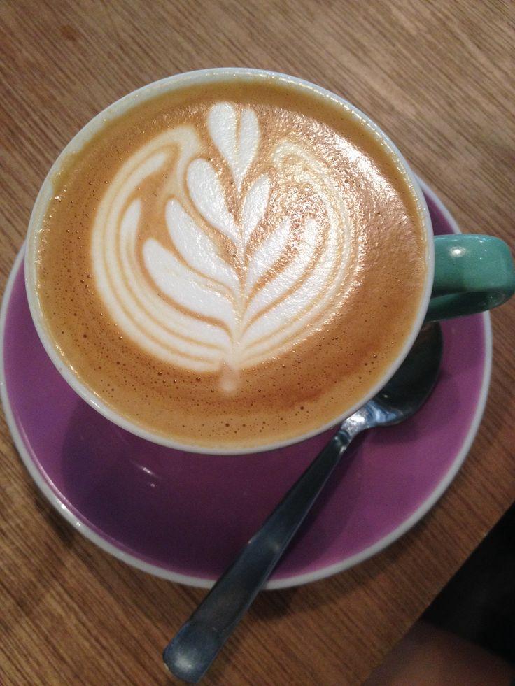 Beautiful latte tulip art