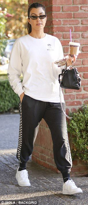 Kourtney Kardashian in sweats, Larsa Pippen dons semi sheer jumpsuit