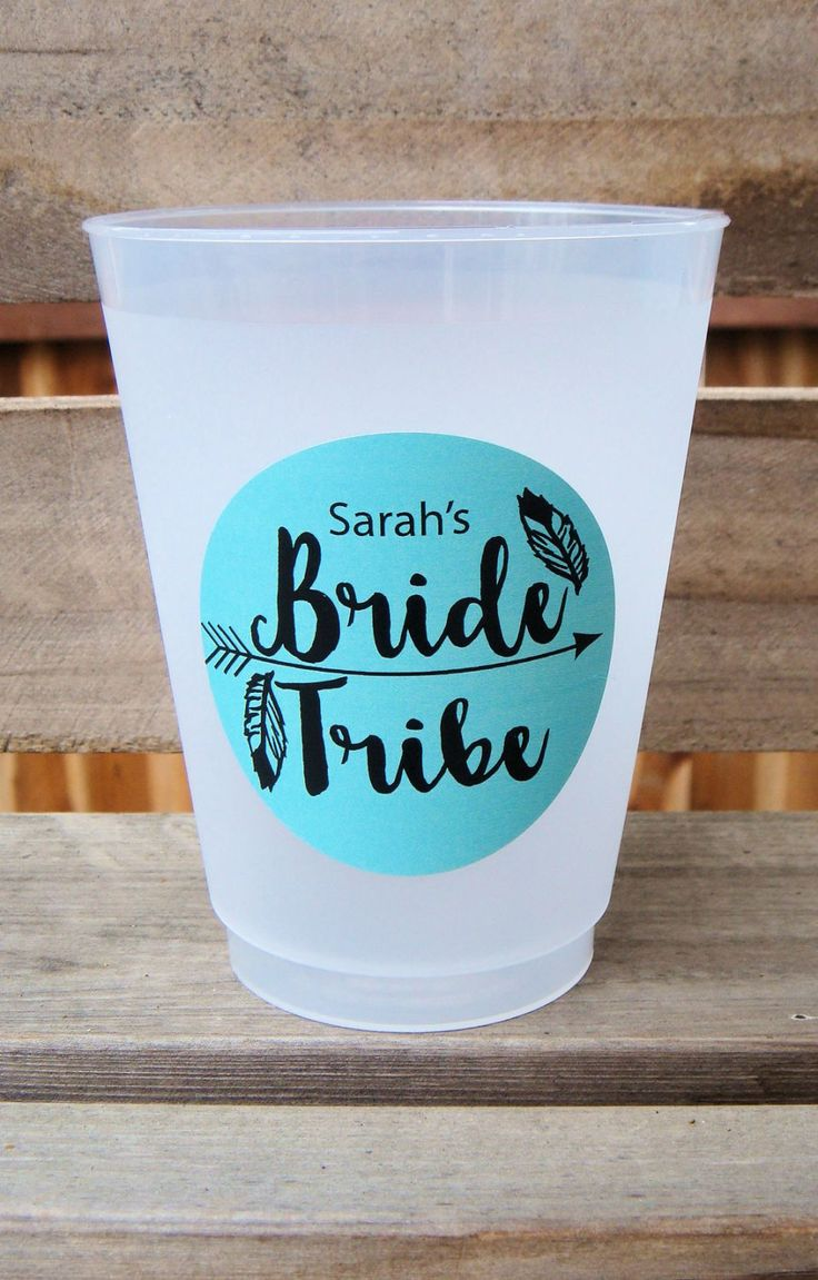 Bride Tribe,  Bachelorette Party Cups, 16 oz. Reusable Party Cup, DIY Kit by Celebr8tions on Etsy