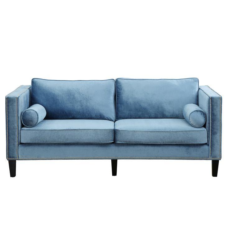 Best Cooper Blue Velvet Sofa Furniture Pinterest Blue 400 x 300