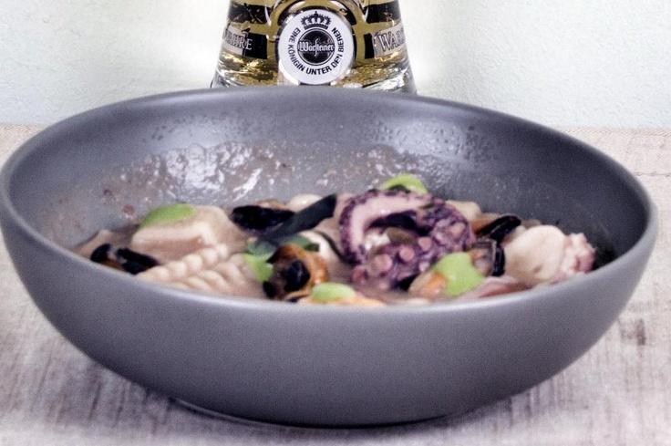 Pasta fagioli e cozze Warsteiner Premium Verum della chef Viviana Varese per Congusto. In collaborazione con Warsteiner.