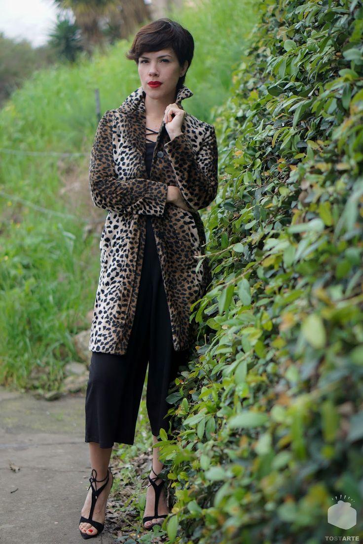 VINTAGE COAT. - VIVA LA MONTES #Ootd #animalprint #leopardo #vintagecoat #bloggerMexicana