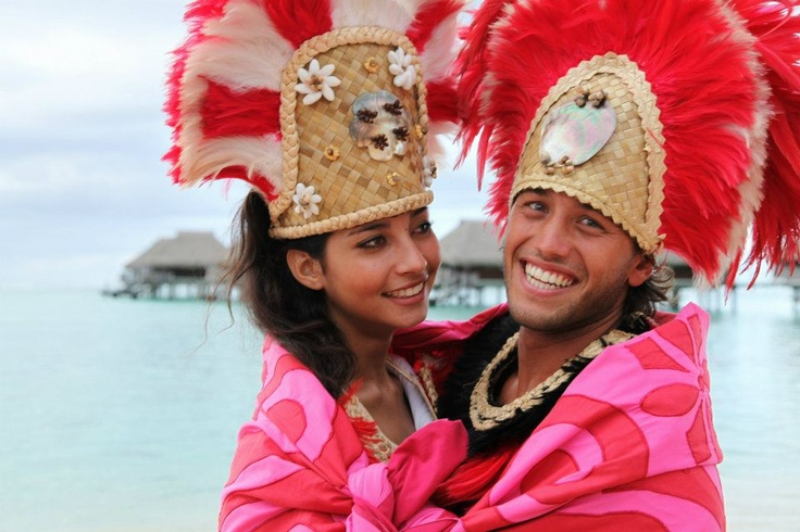 Bora Bora Wedding Couple
