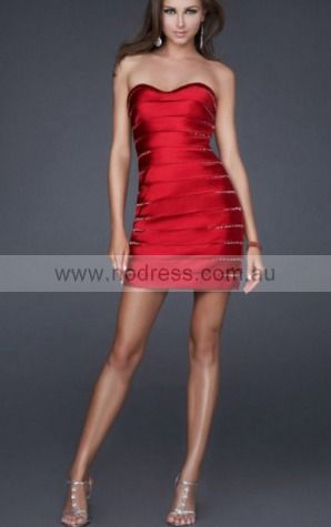 Sheath Sweetheart Short Taffeta Natural Formal Dresses gt3354