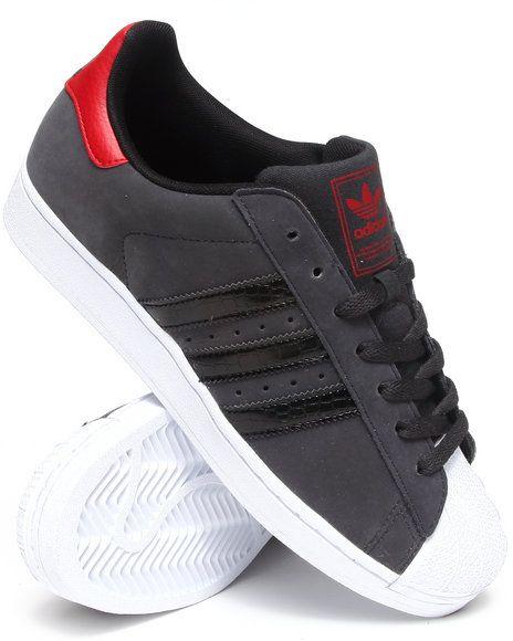 1718850 - Adidas - Men Charcoal Superstar 2 Sneakers