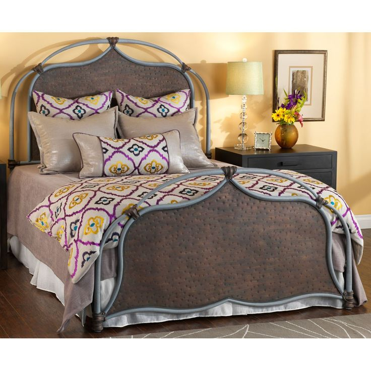 humble abode lugan iron bed by wesley allen hand hammered metal headboard and footboard