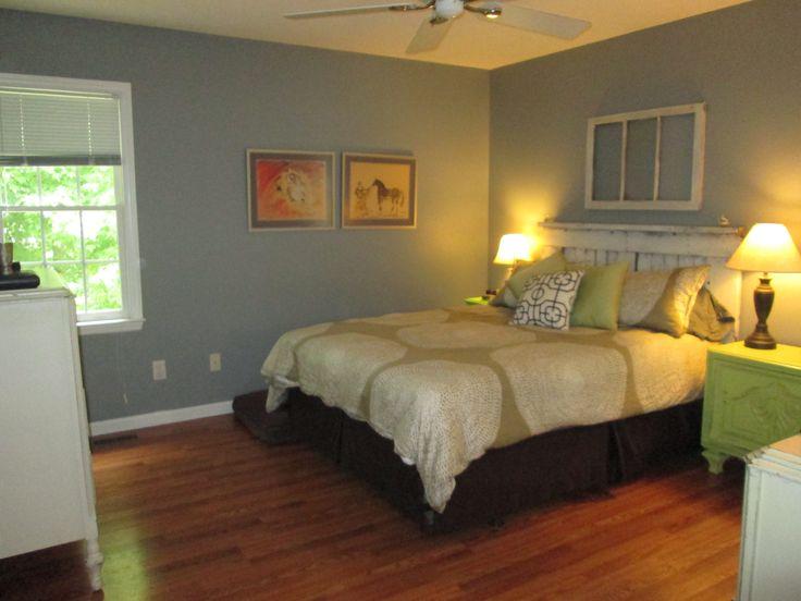 Grey Vintage Bedroom: Bedroom. Valspar's Vintage Grey