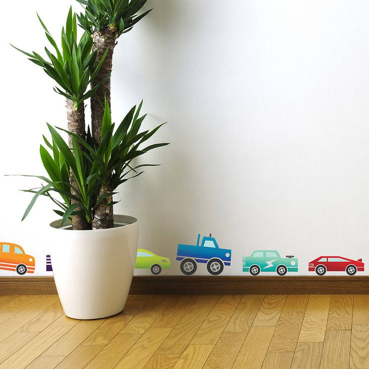 Coloured Cars Wall Sticker Set from notonthehighstreet.com