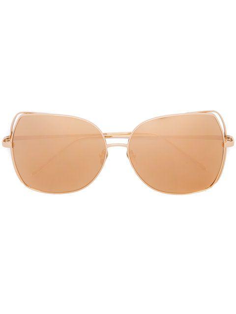 Shop Linda Farrow oversized sunglasses .