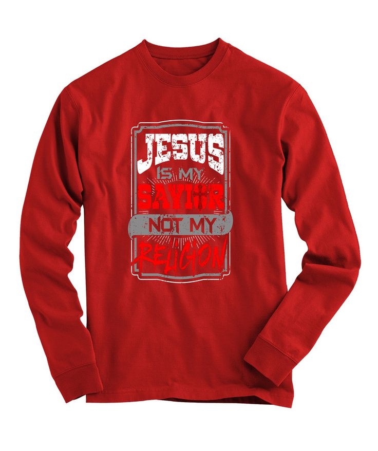 Urbanteesstore-JESUS Is My Savior Design 1 Christian Long Sleeve Graphic T Shirts