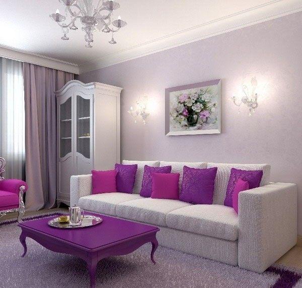 Фиолетовый цвет в интерьере, фото | Cочетание фиолетового цвета в дизайне интерьере