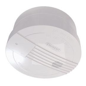 Rookmelder. Koppel deze aan het basisstation, zodat bij rook het alarm wordt geactiveerd.