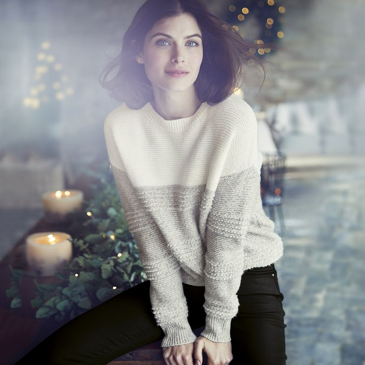 Chunky Loop Stitch Sweater   The White Company US. A really tactile treat to cozy-up in this Winter, our new textured sweater uses loop stitching to create depth and interest. Shopping from the UK? -> http://www.thewhitecompany.com/Chunky-Loop-Stitch-Jumper/p/CLCSJ?swatch=Porcelain