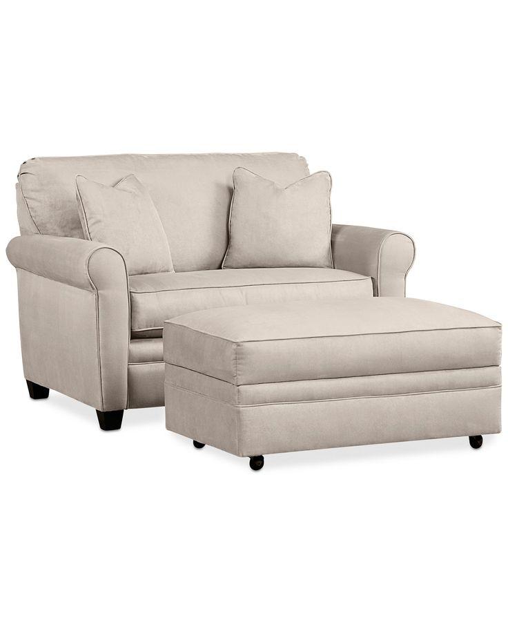 $1299. Kaleigh Fabric Twin Sleeper Chair Bed & Storage Ottoman Set: Custom Colors - Furniture - Macy's