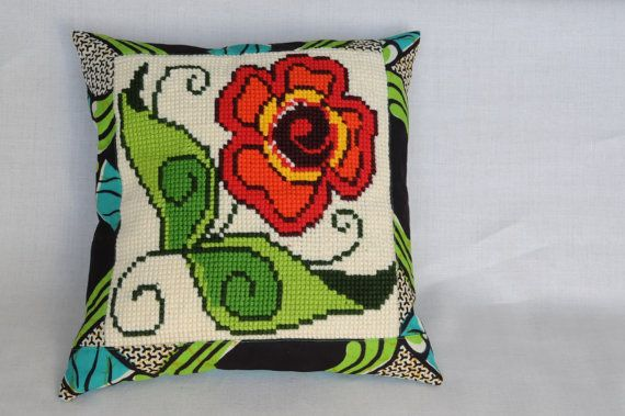 Flower Power cushioncover with a large flower vintage by LUREaLURE, €40.00