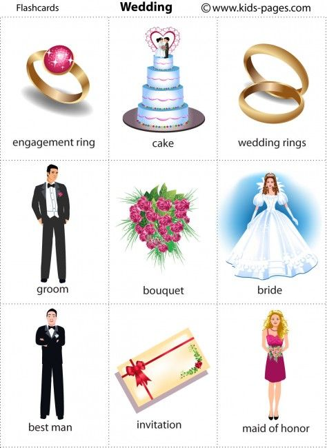 Kids Pages - Wedding 1