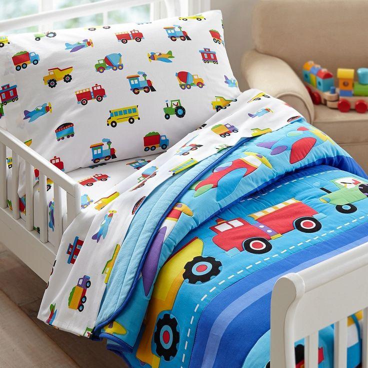 Olive Kids Trains, Planes, Trucks Toddler Comforter | Boys Bedding | Kids Bedding