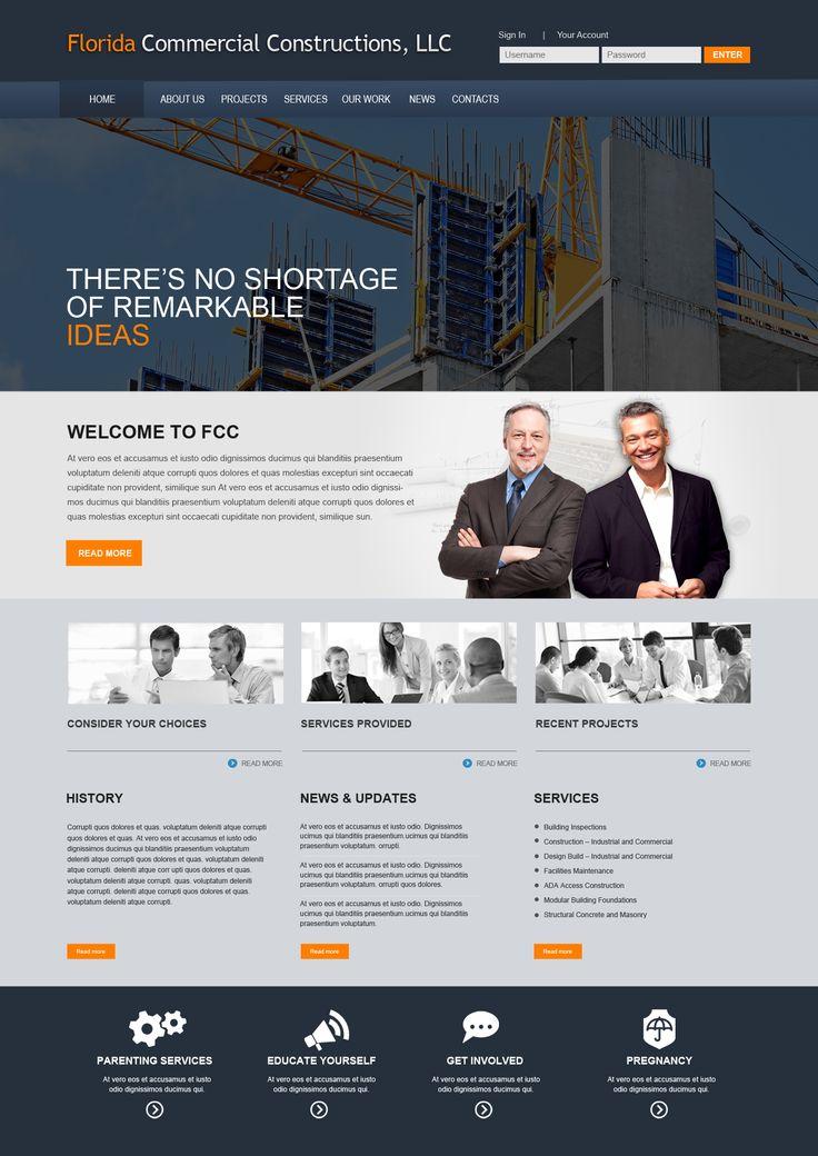 Construction websites industrial websites business for Industrial design business