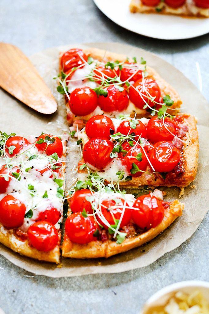 cherry tomato pizza..