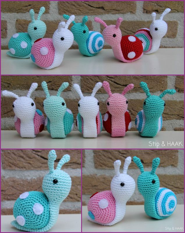 DIY Crochet Snail Amigurumi Free Patterns #Crochet, #Toy