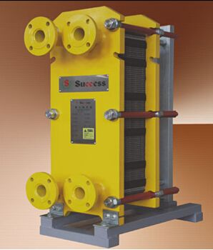 Gasketed swimming pool heat exchanger