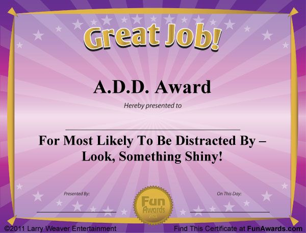 free funny award certificates templates