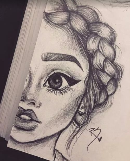 art, drawing, and girl kép