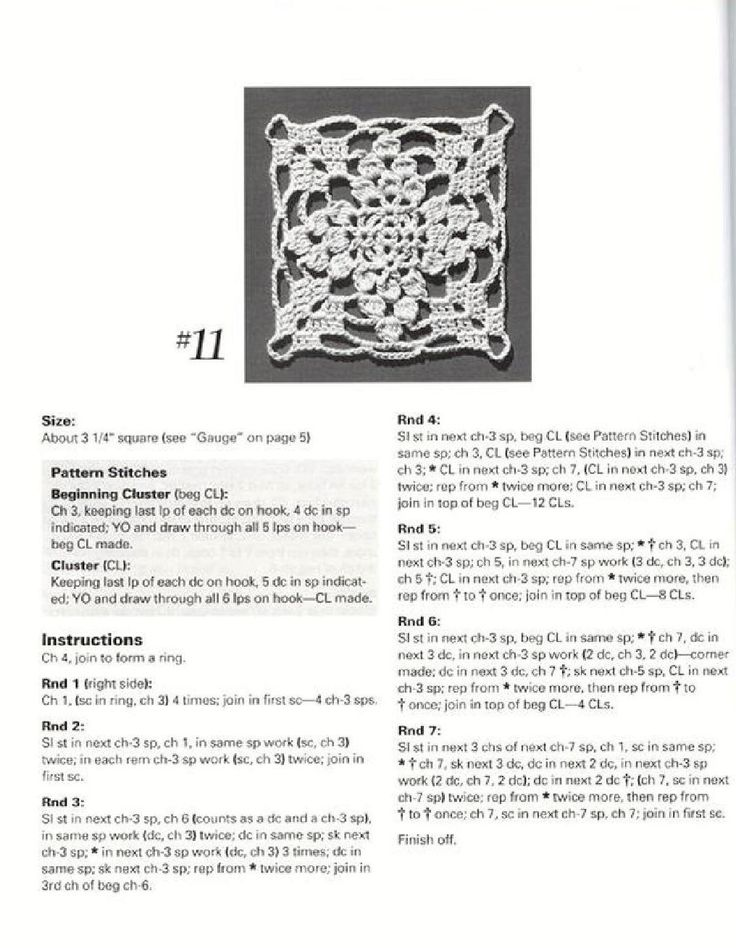#ClippedOnIssuu from Crochet motifs for thread crochet