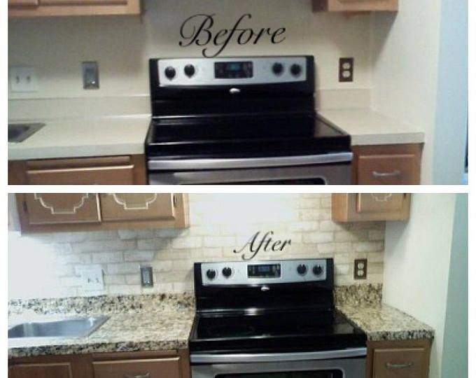 Update Countertop Self Adhesive White Marble Granite Film Not