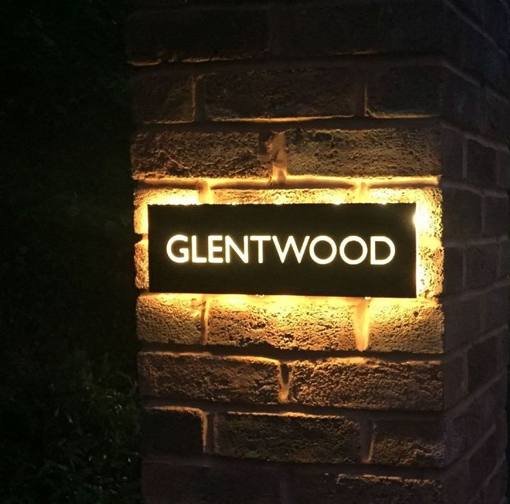 Our stainless steel house name plaques look stunning at night with back lit  LEDs These are unique bespoke items laser cut from 304 grade