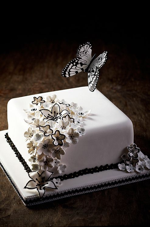 """""""I chose butterflies for branding because they are so beautiful and there   are so many exotic varieties all over,"""" says baker Bonnie Gokson."""