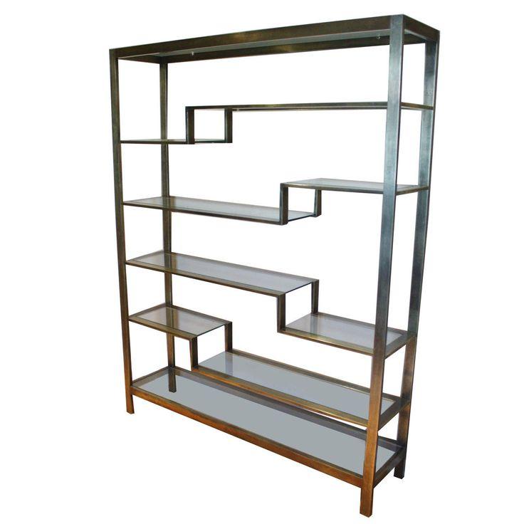 romeo rega brushed gold etagere furniture storage modern and shelves. Black Bedroom Furniture Sets. Home Design Ideas