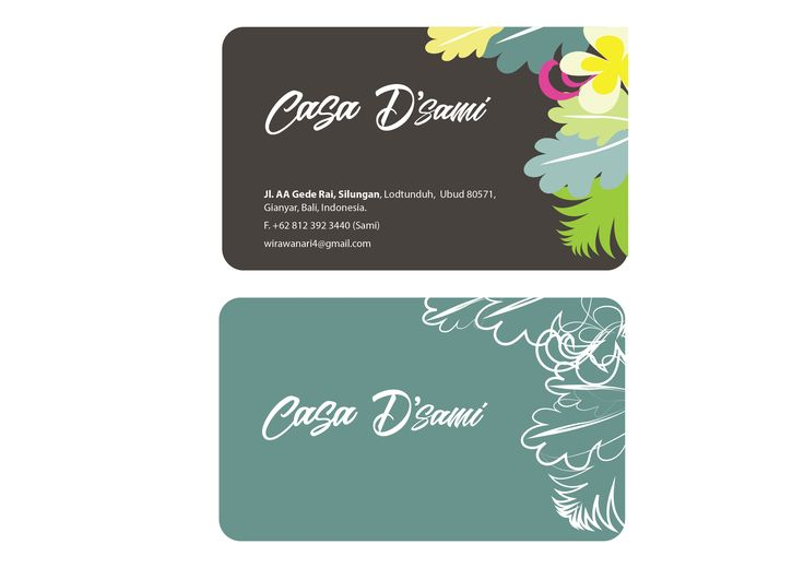 Business card for villa