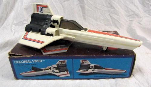 Mattel Battlestar Galactica Viper toy.