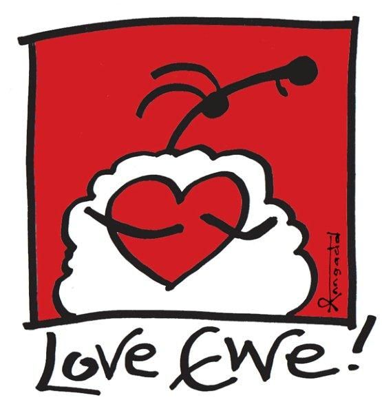"""love ewe!"" by Ann Gadd"