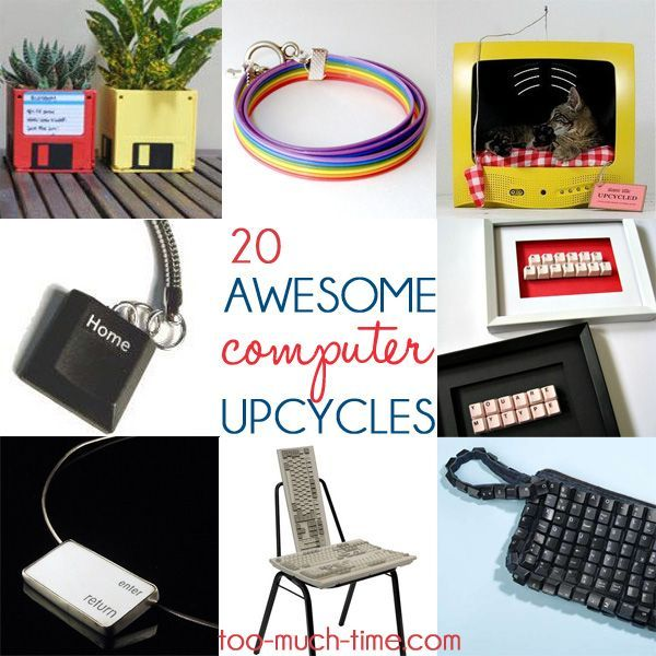 main ingredient monday-computer upcycles 20 great ways to turn old computer parts into new and useful items for your home from Too Much Time on my Hands
