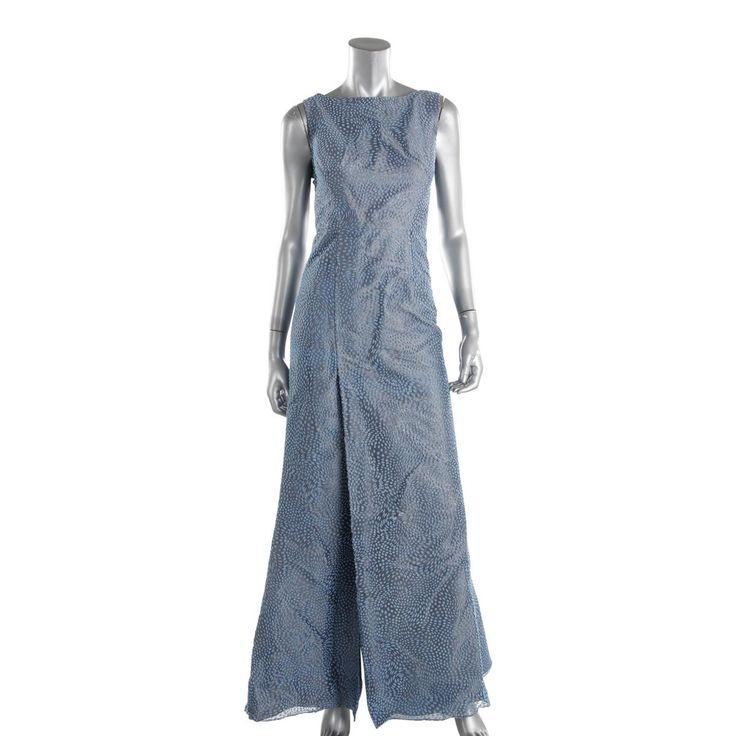 ML Monique Lhuillier Womens Textured Prom Evening Dress