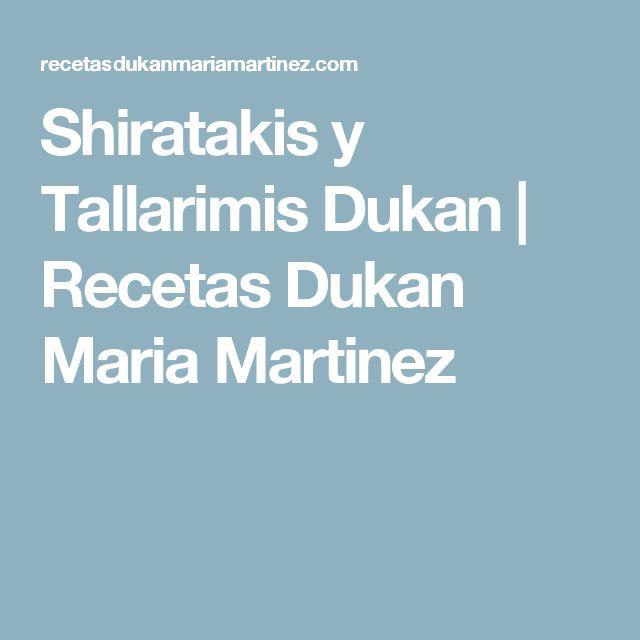 Shiratakis y Tallarimis Dukan | Recetas Dukan Maria Martinez