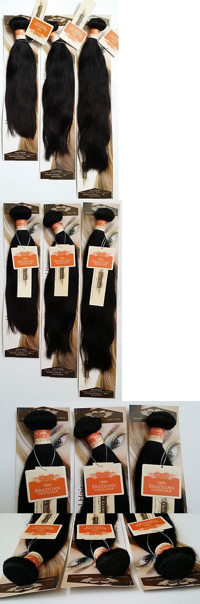 Other Hair Care and Styling: True Glory Hair-Brazilian Human Hair Natural Straight 3 Bundle Deal Nwt_12 ~22 -> BUY IT NOW ONLY: $155 on eBay!