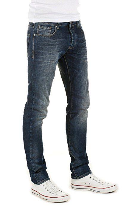 aa23a98e WOTEGA Herren Jeans Rick slim fit, blue denim (085), W33/L34: Amazon ...