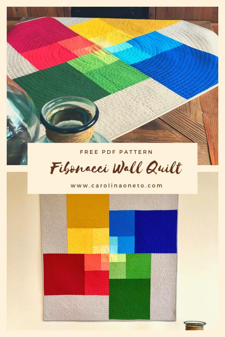 Free Quilt Pattern – Fibonacci Wall Quilt