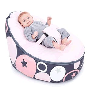 This Is The Highly Rated Doomoo Baby Bean Bag Chair In Pink With Stars And Circles