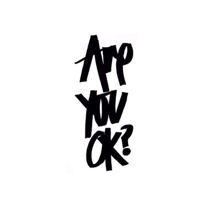 Are you ok? It's okay to not be ok. It's okay to ask for help. It's okay to reach out to someone. So many people suffer in silence when they don't have to. Check in with your friends and family members and ensure that they aren't suffering alone. You never know what demons people are fighting. by crystalxnicole__